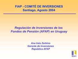 Uruguay -Zerbino - (FIAP) Federación Internacional de
