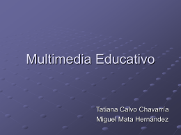 MULTIMEDIA EDUCATIVO - Tecnologia-Educativa-UCR