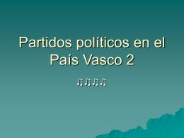 Partidos políticos en el País Vasco 2