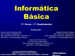 Informática Básica Horas de Tutoría
