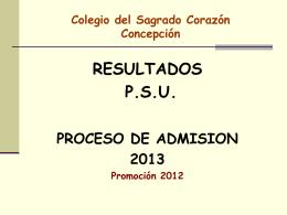 resultados psu proceso de admisión 2013