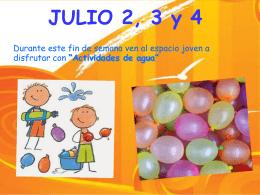 Resumen semana 2,3 y 4 de julio