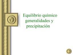 Equilibrio Quimico y precipitacion