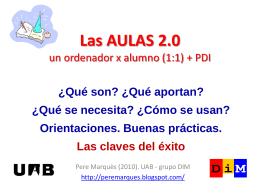 aules 2.0. - Web de Pere Marquès