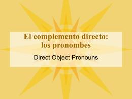 DOPronouns - Serrano`s Spanish Spot
