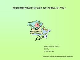 Documentación de soporte de un sistema de P.R.L.