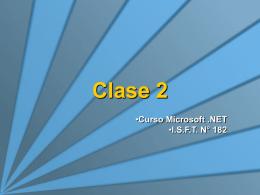 Clase 2 - VS2005 y C#