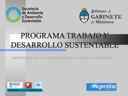 Objetivos del Programa - Secretaria de Ambiente y Desarrollo