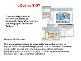 ¿Qué es SIG?