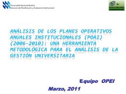 4_ Generalidades POAN - POAI - OPEI