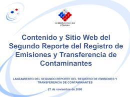 RETC 2008 - Ministerio del Medio Ambiente