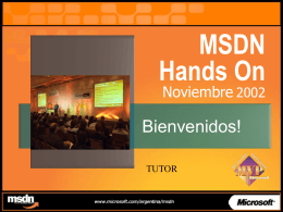 MSDN Hands On
