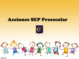 Acciones SEP Preescolar junio