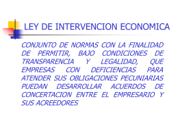 LEY DE INTERVENCION ECONOMICA