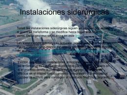 Instalaciones siderúrgicas en España