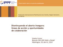 Disminuyendo el aborto inseguro