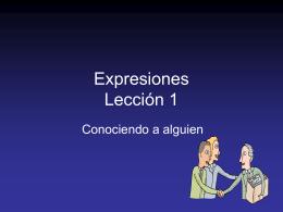 Conociendo a alguien Lección 1