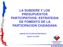 la subdere - Centro de Documentación del Programa URB-AL