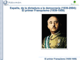El primer Franquismo (1939-1959)