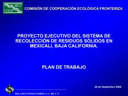 COCEF - Comisión de Cooperación Ecológica Fronteriza