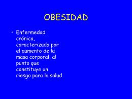 TEMA 20 OBESIDAD