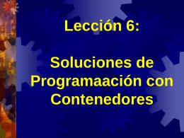 Soluciones de Programación: Contenedores