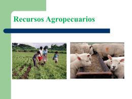 Recursos agropecuarios y forestales