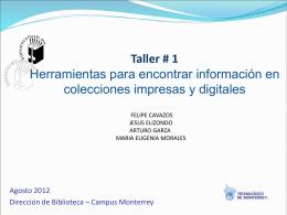 Diapositiva 1 - Biblioteca Campus Monterrey