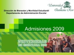 Admisiones 2009_zona maya