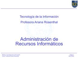 Clase 7 Administración de Recursos Informáticos