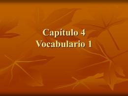 Capitulo 4 Vocabulario 1