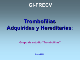 Trombofilias Dr. Iván Palomo - PIFRECV