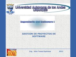 Ingenieria Software I Administración Proyectos