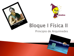 File - Física II Bloque I Principio de Arquímedes