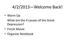 4/2/2013—Welcome Back!