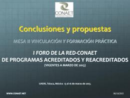 CONCLUSIONES II VyFP 2013