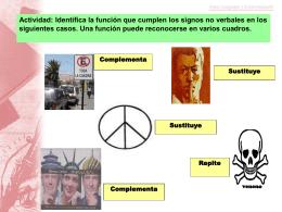 Actividad: Identifica la función que cumplen los signos no verbales