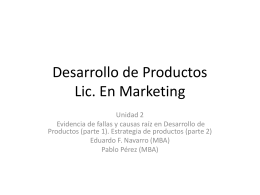 Desarrollo de Productos Lic. En Marketing