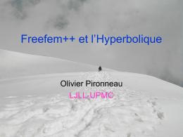Freefem++ et l`Hyperbolique