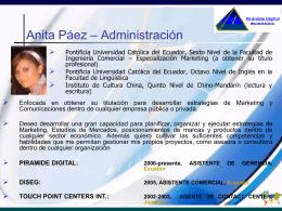Consultores - Anita P Paez