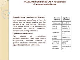 trabajar con formulas y funciones
