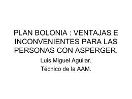 plan bolonia : ventajas e inconvenientes para las personas