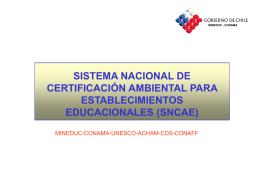 sistema nacional de certificación ambiental para establecimientos