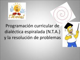 Programacion curricular de dialectica espiralada y la resolucion