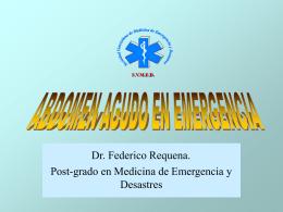 CONDUCTA ANTE UN ABDOMEN AGUDO EN EMERGENCIA