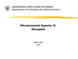 Monopolio - Rafael Salas