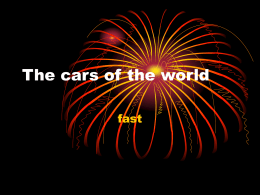 The cars of the world