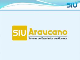 Presentación SIU Araucano