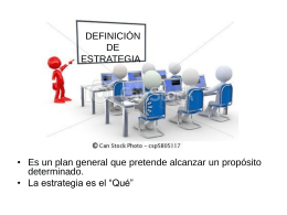 DEFINICIÓN DE ESTRATEGIA - proyectos