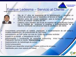 Consultores - Enrique Ledesma